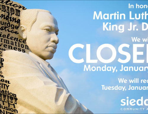 Sieda Community Action Closed for Martin Luther King Jr. Day