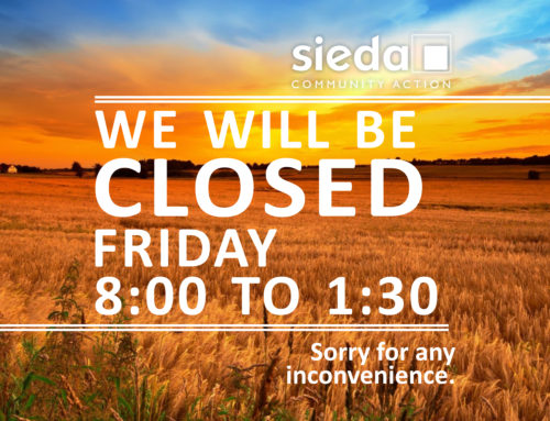 Sieda Closed Friday, September 13th