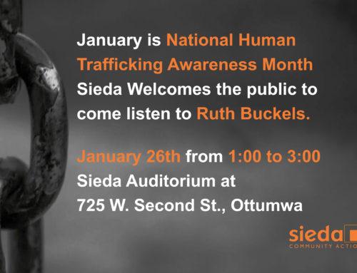 Sieda Welcomes Speaker for National Human Trafficking Awareness Month