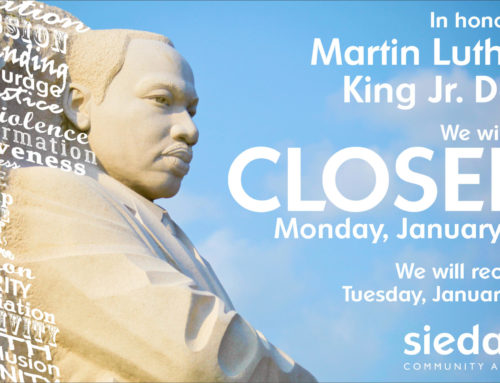 Sieda Centers Closed for Martin Luther King Jr. Day