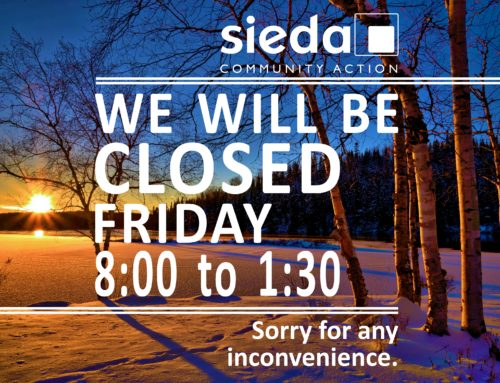 Sieda Closed till 1:30 on February 16th
