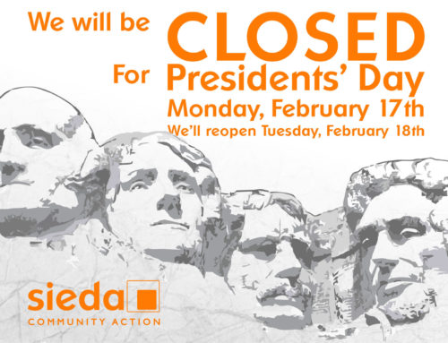 Sieda Offices Closed for Presidents' Day, February 17