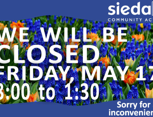 Sieda Closed till 1:30 on May 17th