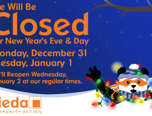 Sieda Closed for the New Year's Holiday