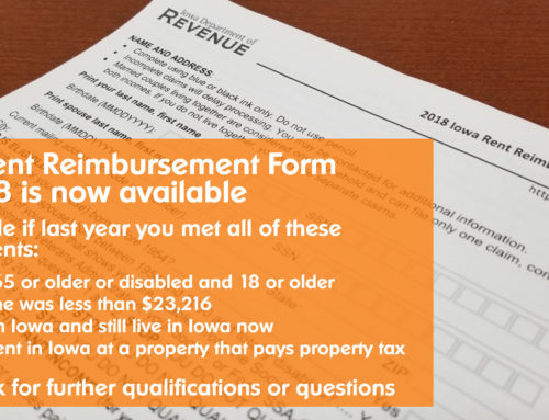 Iowa Rent Reimbursement Form Available at Sieda's Locations