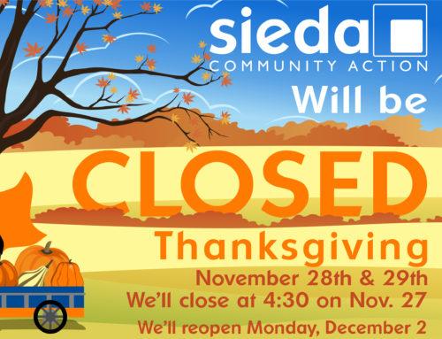 Sieda Closed For Thanksgiving