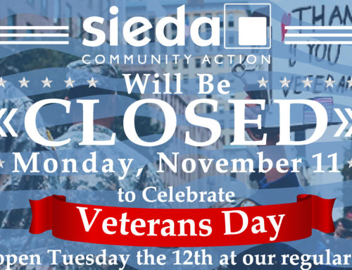 Sieda Offices Closed for Veterans Day