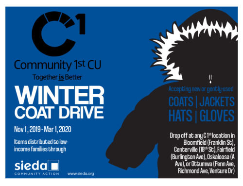 Community 1st Credit Union Helps Sieda Community Action Share the Warmth