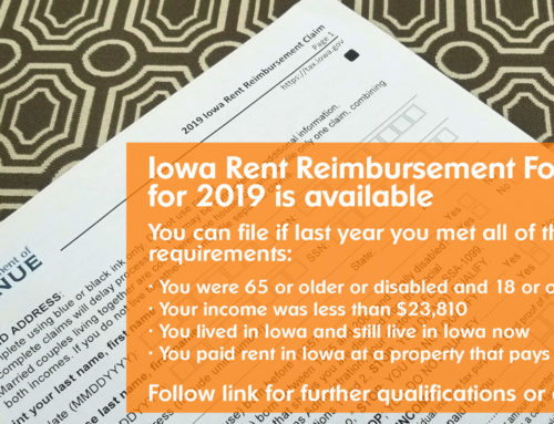 Iowa Rent Reimbursement Form Available at Sieda's Offices