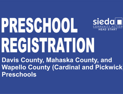 Preschool Registrations for Davis, Mahaska, Van Buren and Wapello County Head Start