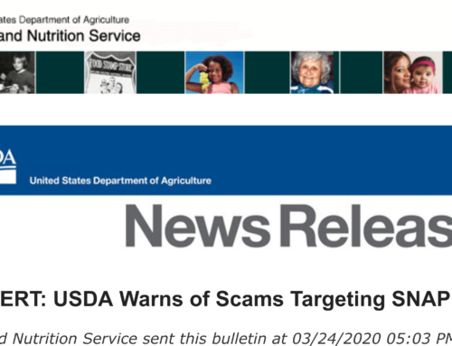 FRAUD ALERT: USDA Warns of Scams Targeting SNAP Recipients
