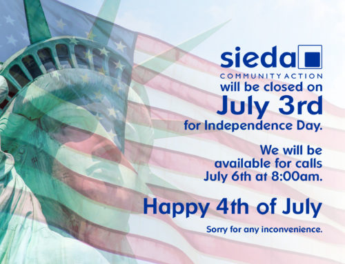Sieda will be Closed July 3rd for Independence Day