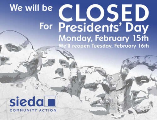 Sieda Offices Closed for Presidents' Day