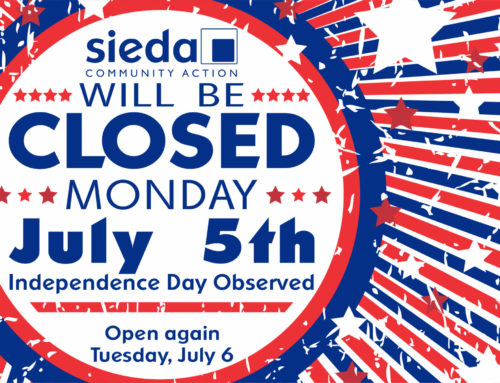 Sieda will be Closed July 5th for Independence Day