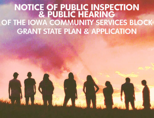 Public Review of the Iowa's CSBG State Plan and Application