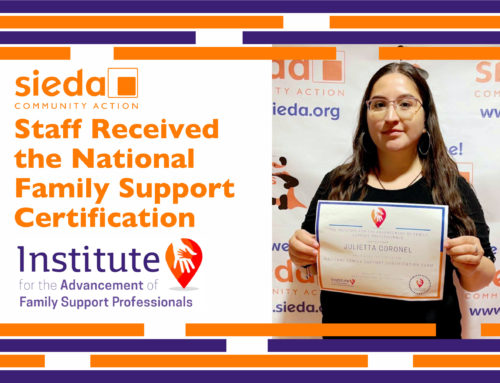 Sieda Staff Received the National Family Support Certification